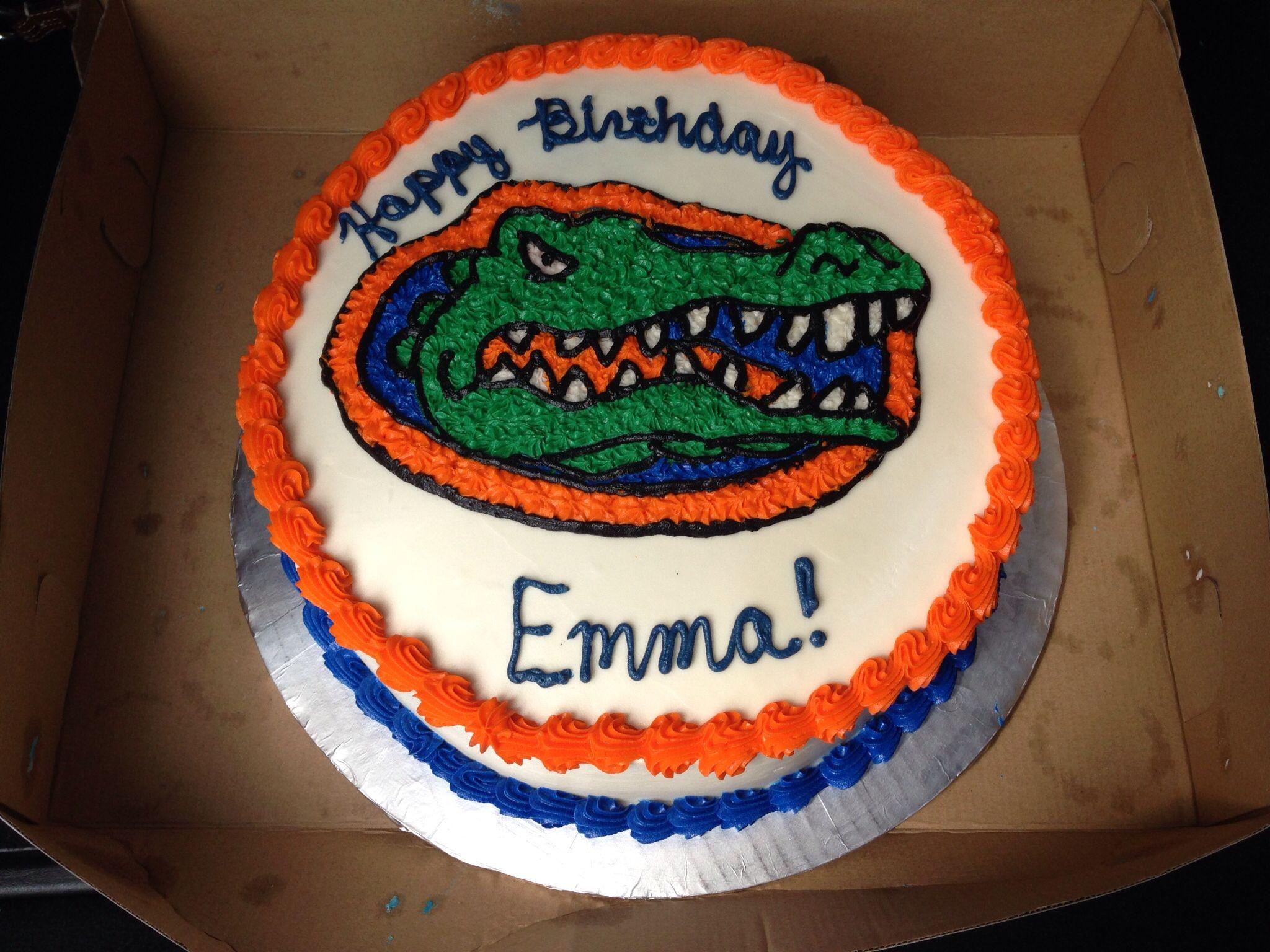 Florida Gator Cake My Cakes Pinterest Cake Florida Gators And
