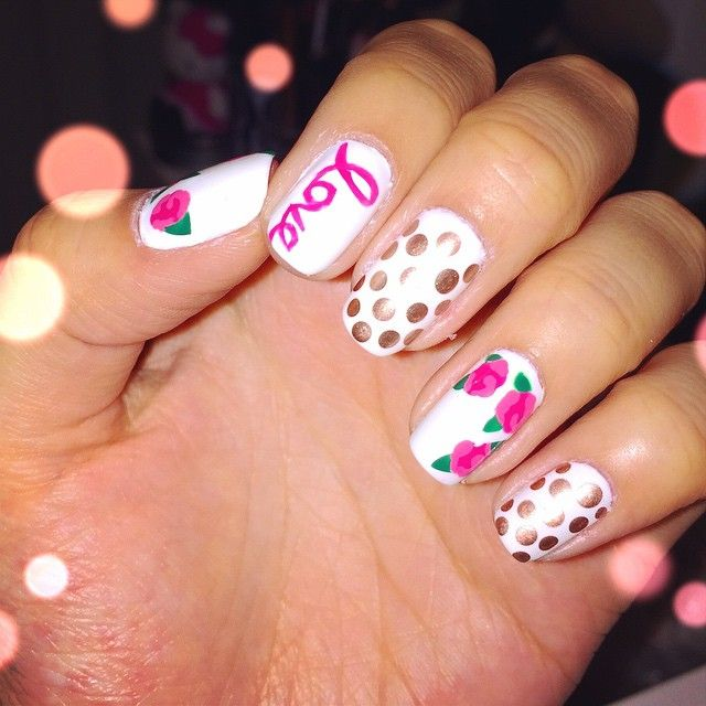 Just did my nails got so inspired by the lovely @missjenfabulous ...