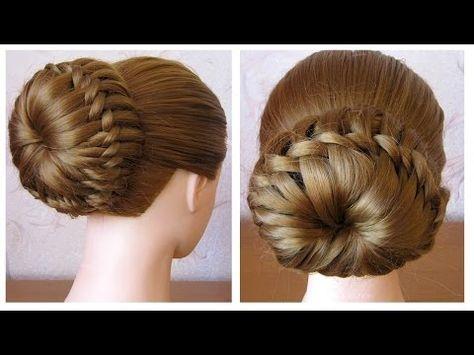 Chignon tressé facile ⭐︎ Tuto Coiffure simple cheveux mi