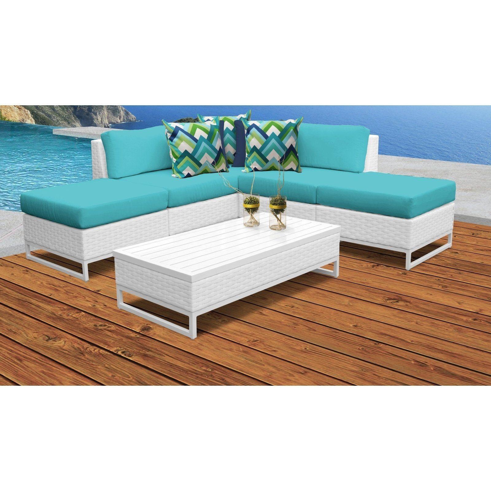 Miami 6 Piece Outdoor Wicker Patio Furniture Set 06c Aruba Tk