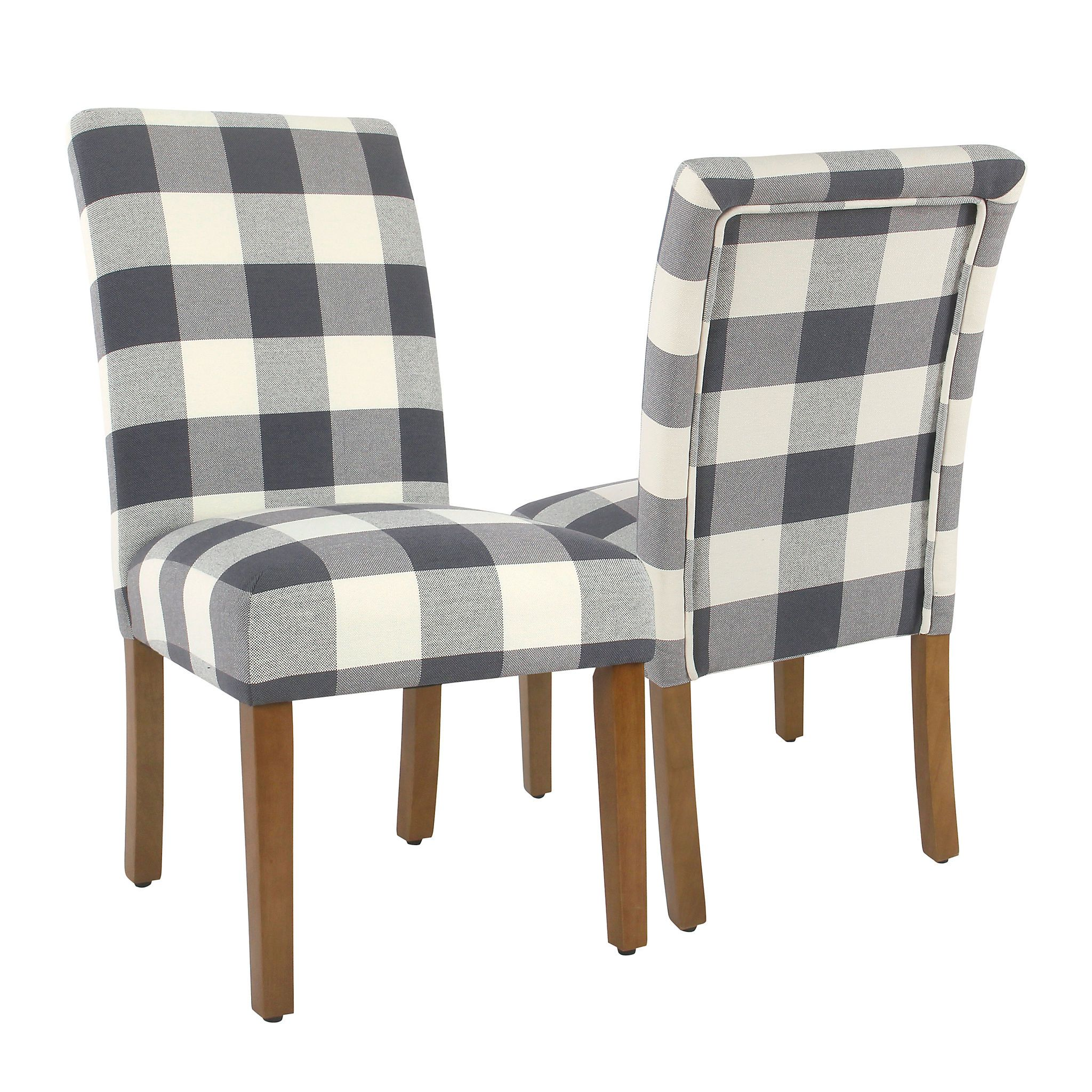 Product Details Blue Buffalo Check Dining Chairs Set Of 2