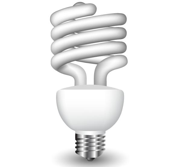 Energy Saving Fluorescent Light Bulb Vector Free. Energy Saving Fluorescent Light Bulb Vector Free   Free Vectors
