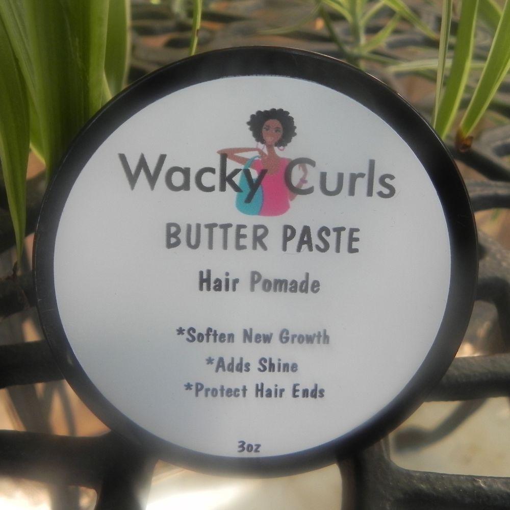 "WACKY CURLS ""BUTTER PASTE"" Curls, Hair pomade"