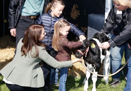 danishroyalfamily: Crown Princess Mary and daughters Princess Isabella and Princess Josephine opened organic økodag 2015, April 19, 2015