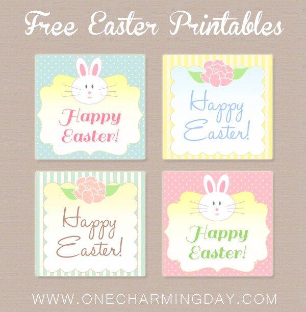 Free easter printable tags printable tags and easter free easter printable tags negle Gallery