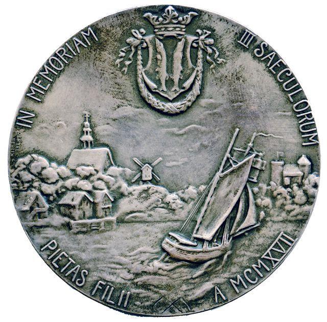 mitali; muistomitali; Uusikaupunki 300 vuotta - Finna