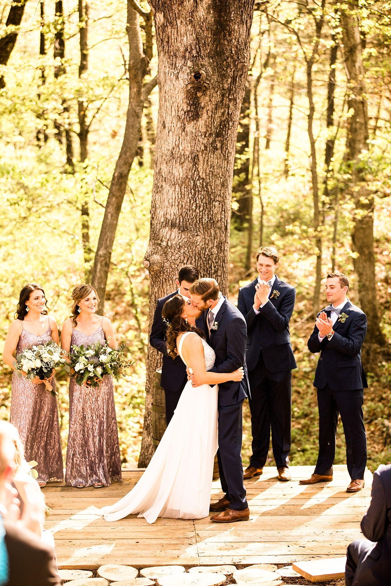 Patrick u tillie woodsy backyard wedding in columbia missouri