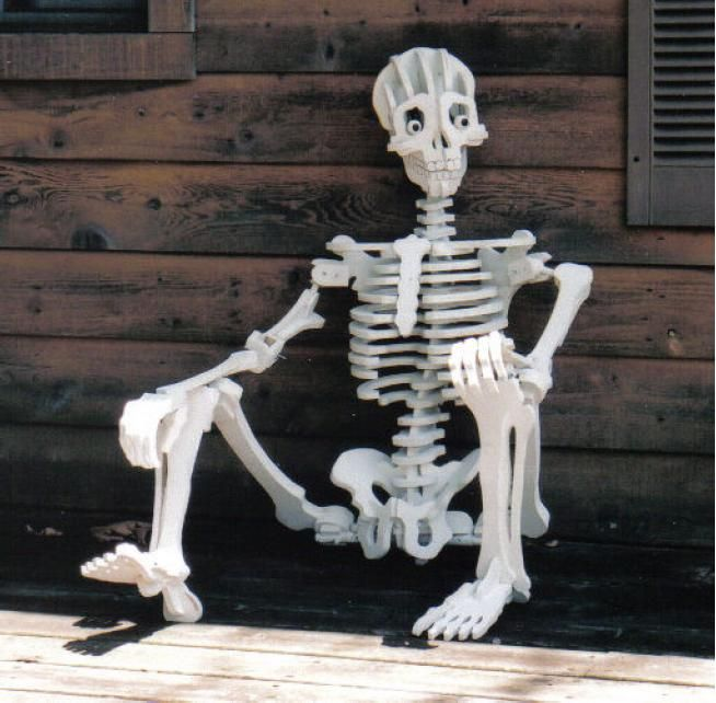 Plywood Skeleton Halloween Projects Modern Halloween Halloween Skeletons