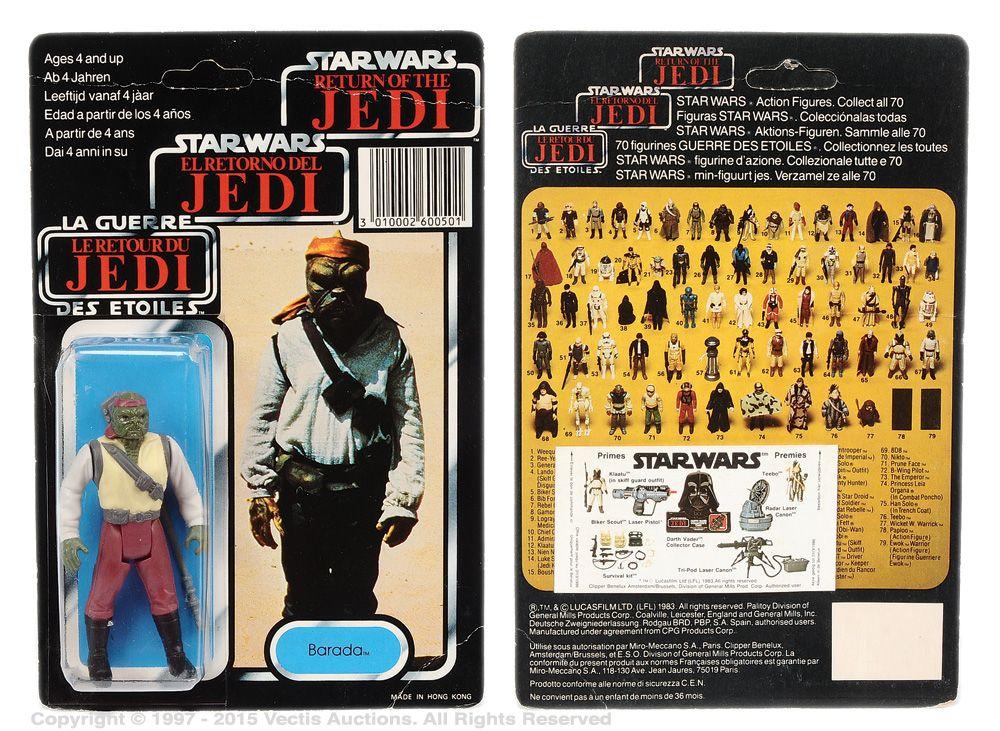 Palitoy/General Mills Star Wars Return of the Jedi Tri-logo Barada 3 ¾