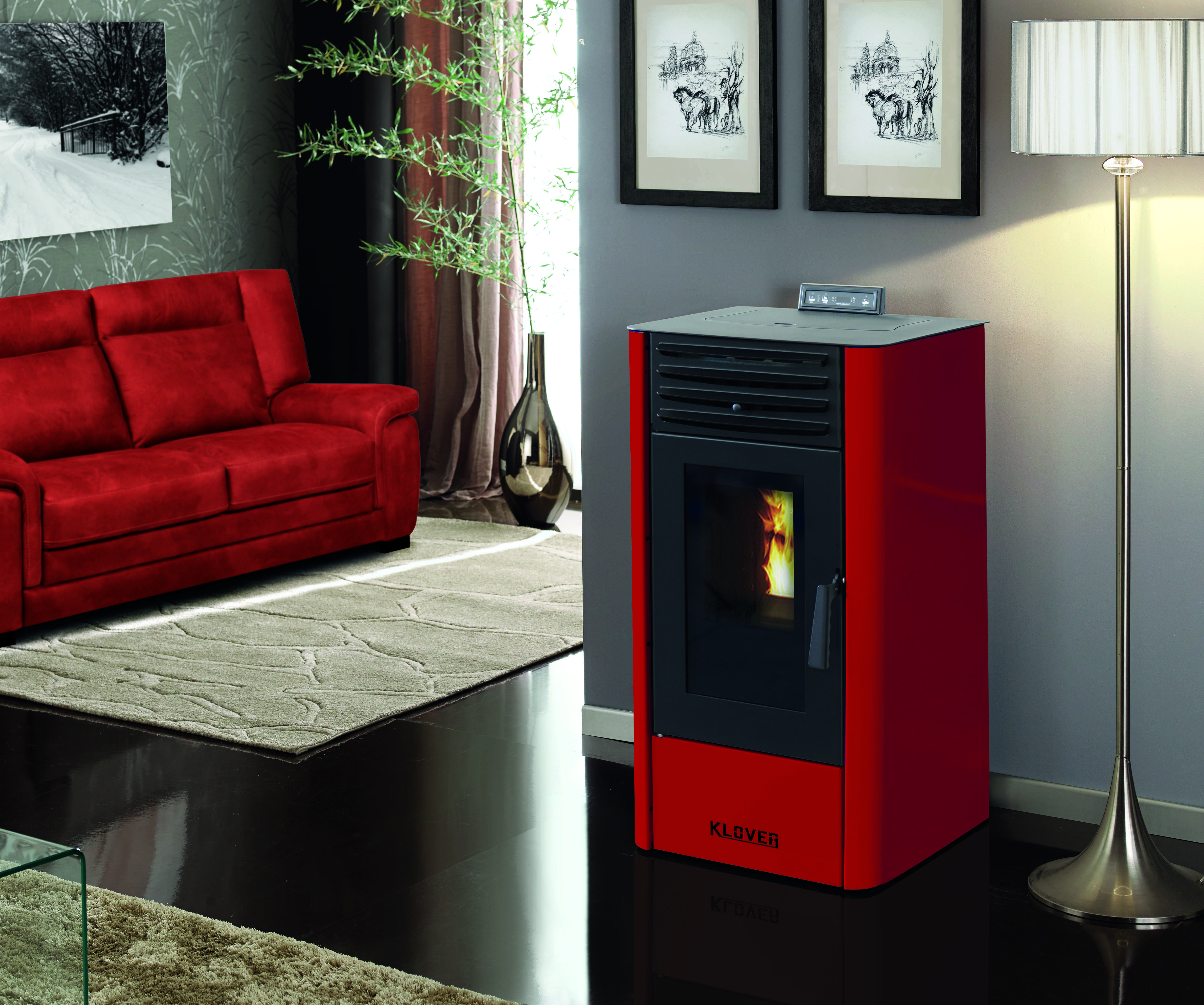 klover wood pellet boiler stoves which are designed to be