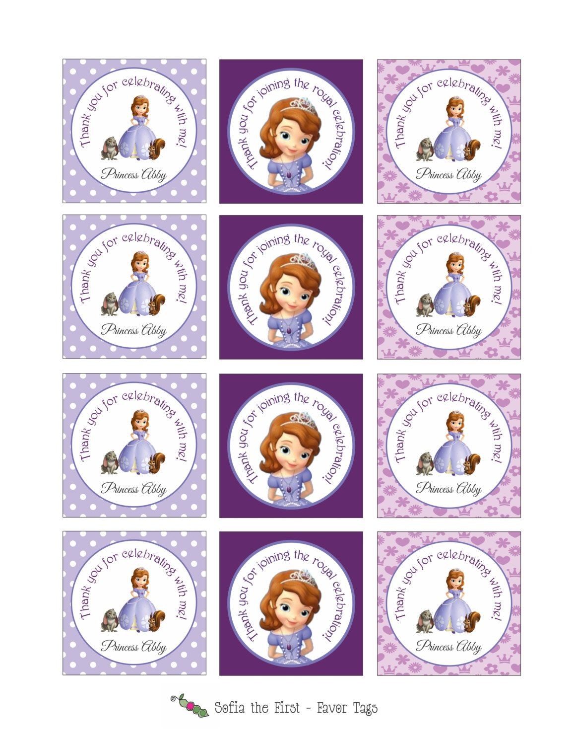 Printable Sofia The First Stickers Or Gift Tags Great To Be Used