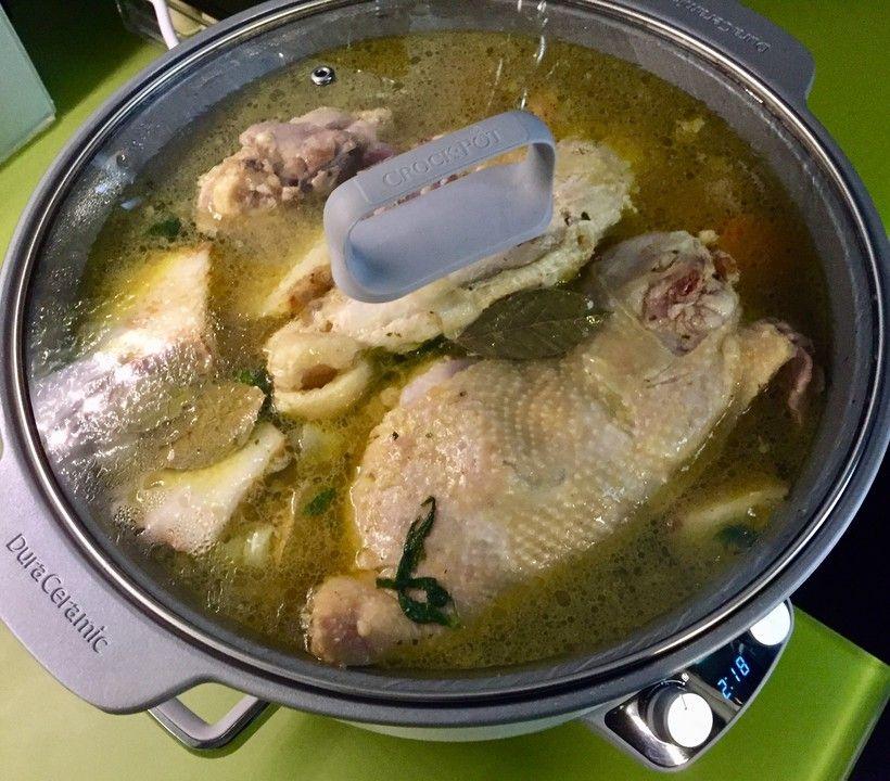 Hühnersuppe aus dem Slow Cooker #slowcookercrockpots