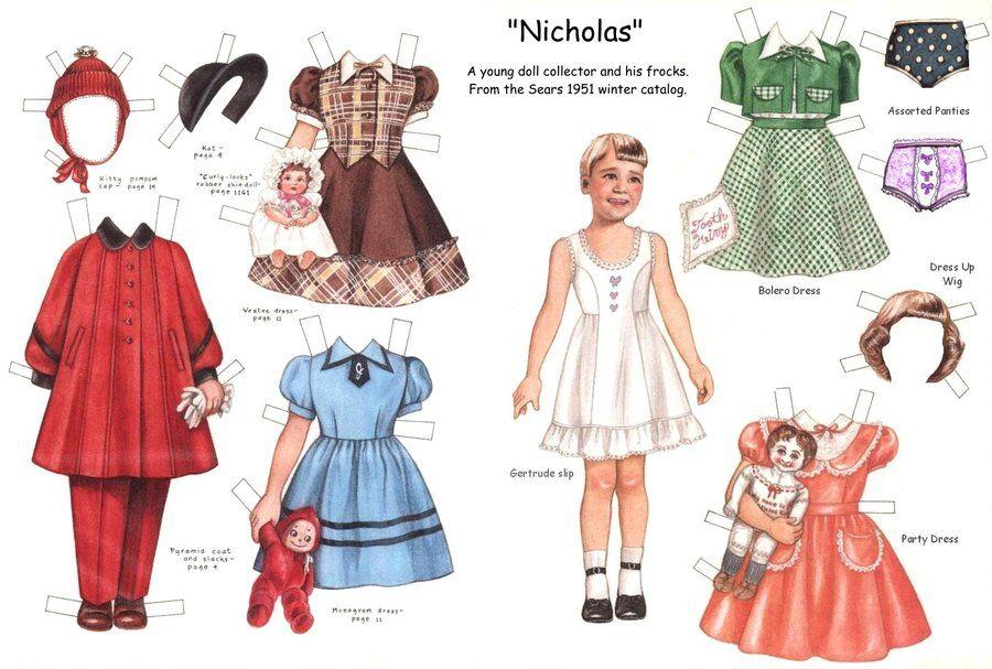 Nicholas Dress Up Paper Doll By Daphnesecretgarden