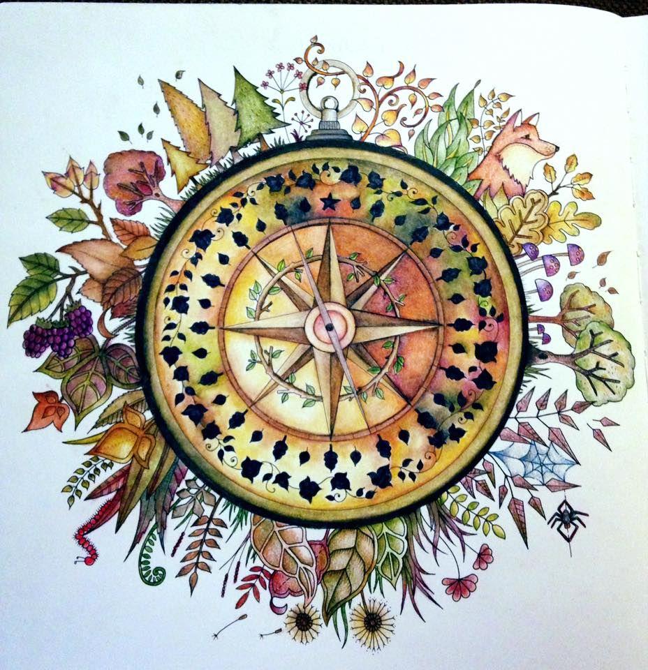 Beth Taylor McCarty. Gorgeous Johanna Basford Compass. <3