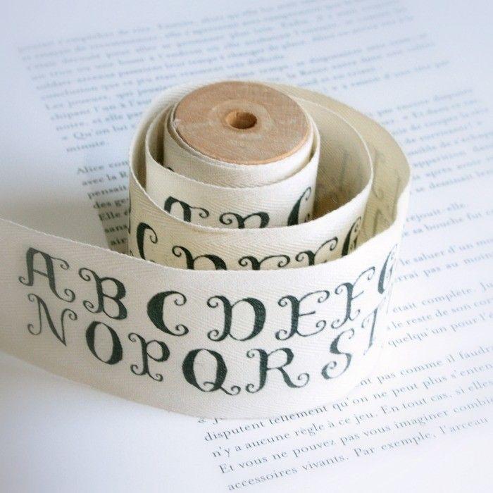 Alphabet Wide Cotton Tape.