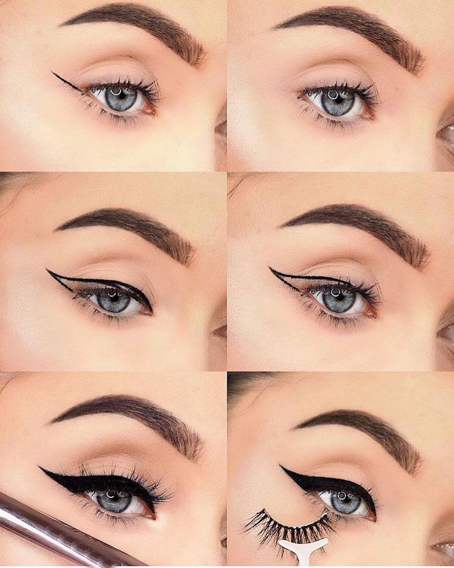 Best eyeliner steps #eyeliner #eyelinertips #makeup  Cat eye