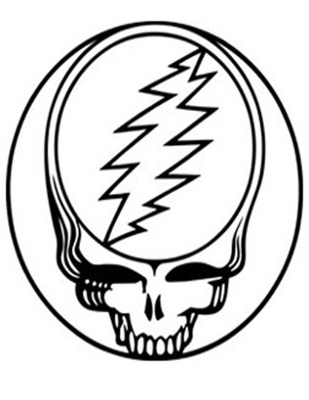 Grateful Dead Coloring Pages with regard to Really