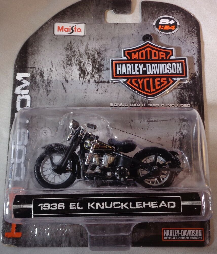 1936 El Knucklehead Harley Davidson Motorcycle H D Maisto 1 24 Diecast Model Maisto Harleydavidson Harley Davidson Diecast Models Knucklehead Harley