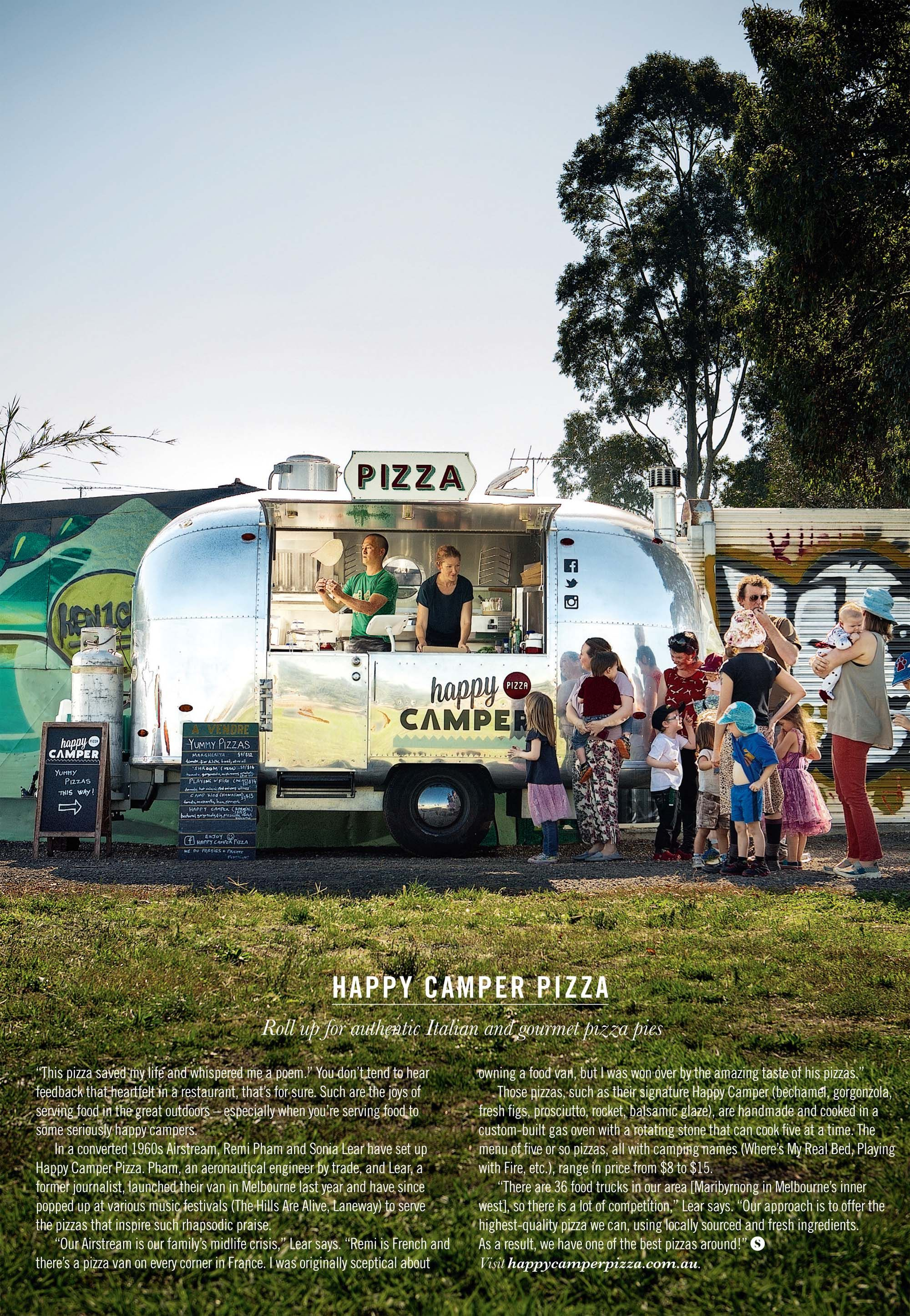 Food On The Move Starring Happy Camper Pizza May 18 Issue Shot