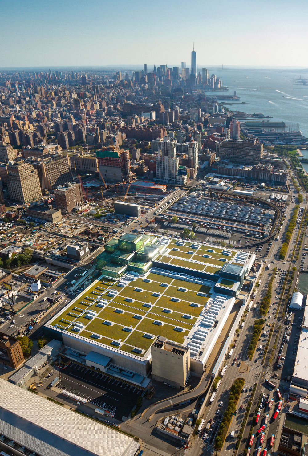 Javits Center New York Google Search Green Roof Roof Futuristic