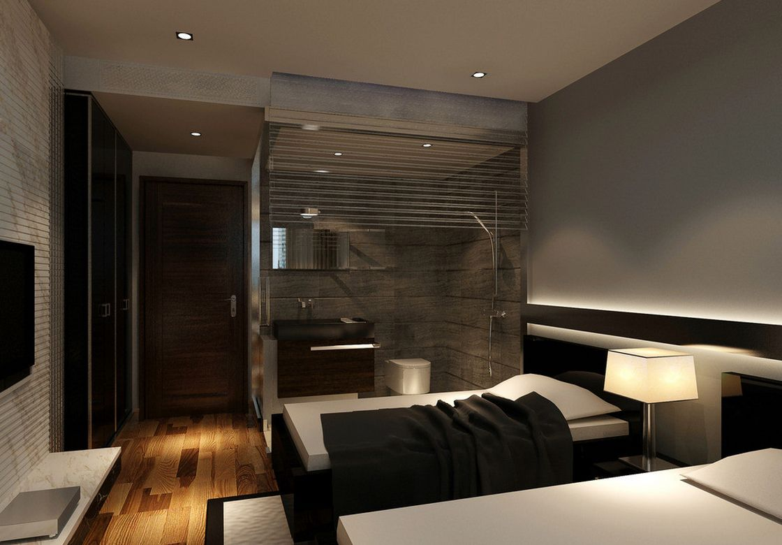 Modern Hotel Room modern-style-hotel-room-with-bathroom (1120×780) | hotel rooms