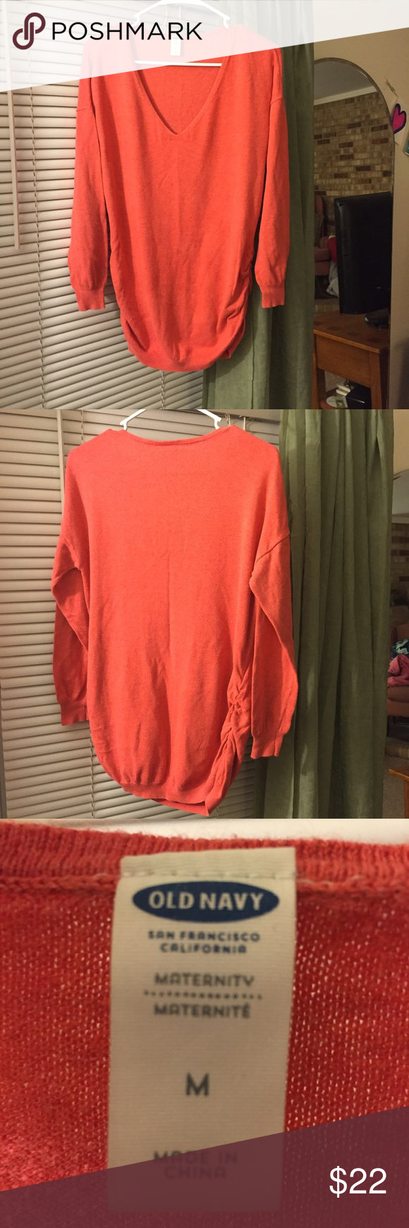 Old navy orange sweater. This super cute sweater is perfectly ...