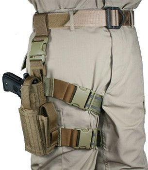 Tactical Universal Pistol Gun Drop Leg Thigh Holster Pouch Airsoft Hunting Novel