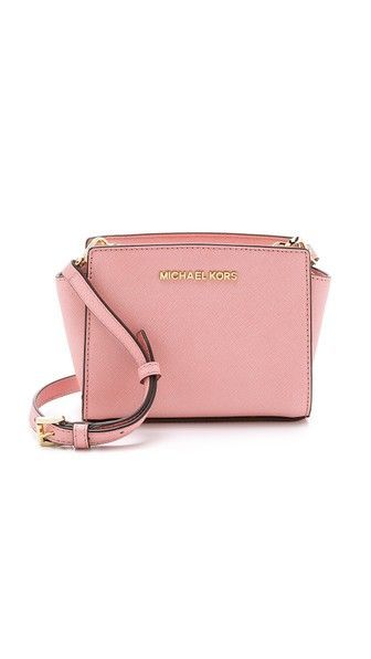 f55f2a10e92ae MICHAEL Michael Kors Selma mini messenger bag (pale pink) Diese und weitere  Taschen auf www.designertaschen-shops.de entdecken