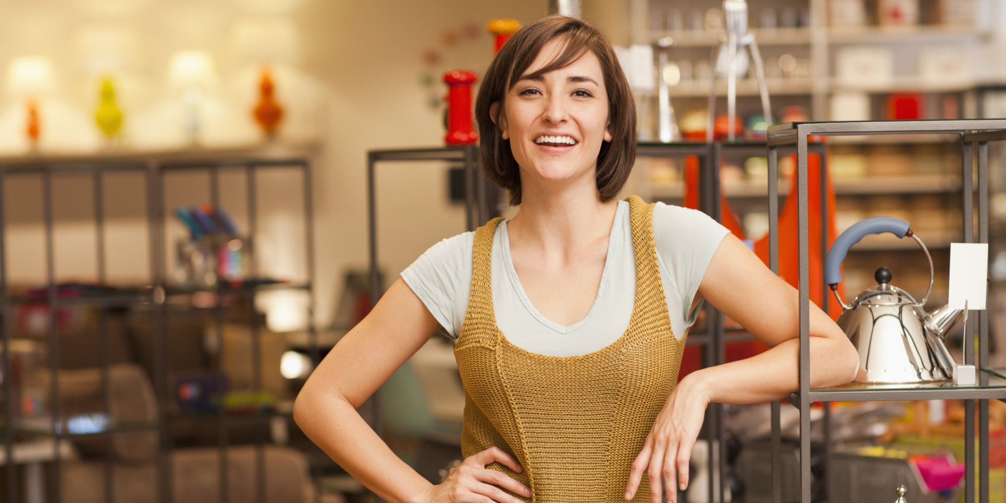Small Business Owner Open Sign Helping Women Business Owners At