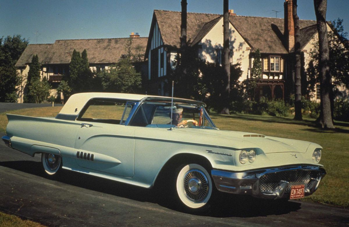 1964 ford thunderbird in front of the baxter s house from hazel favorite old cars pinterest ford thunderbird ford and cars
