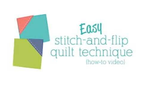 With a simple stitch-and-flip technique, you'll never cut a single triangle—start with squares instead! Learn how in this quick video from Me and My Sister Designs.