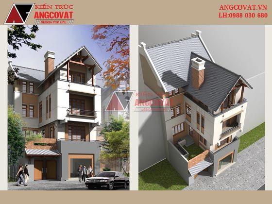 Mẫu thiết kế nhà phố đẹp 4 tầng 1 mặt tiền 9m - Thanh Hóa