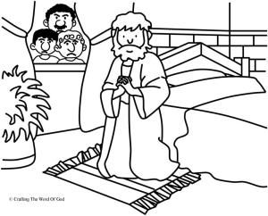 Daniel The Lions Den Coloring Page