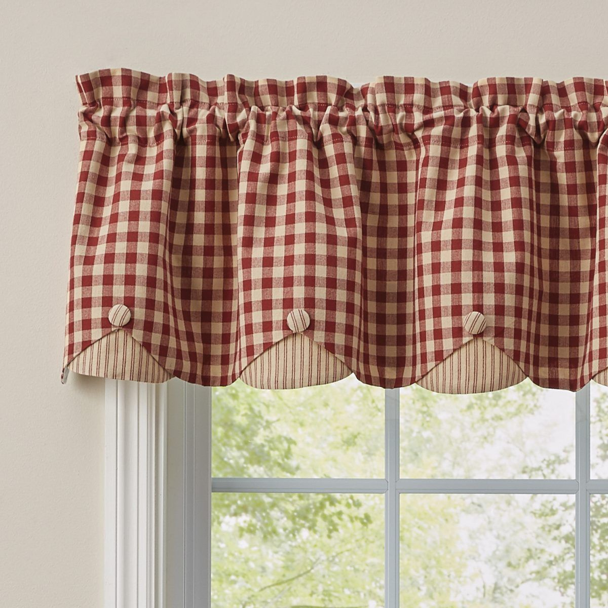 326ab51d354cabef7328e64d12af7d8c - Better Homes And Gardens Red Check Swag Valance