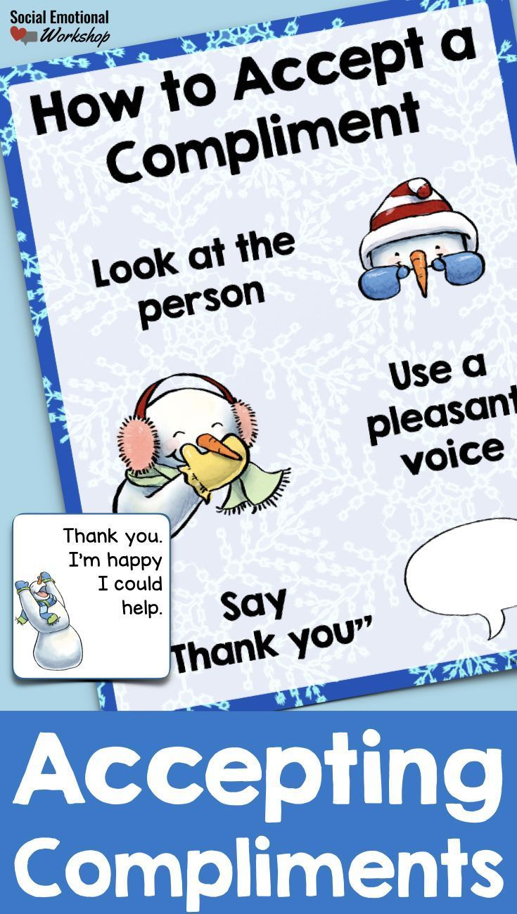 Accepting compliments social skills lesson for receiving