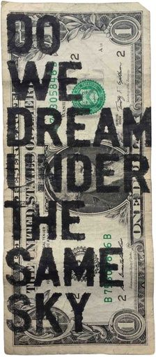 Rirkrit Tiravanija, Untitled (One Dollar Do We Dream Under the Same Sky), 2015 on Paddle8