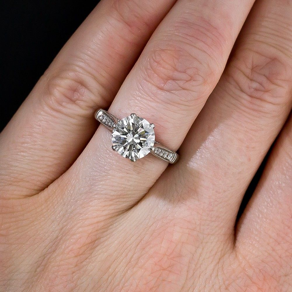 2.40 Carat Diamond Vintage Engagement Ring | Engagement