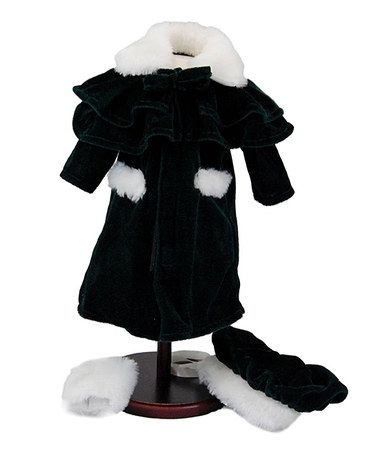 Another great find on #zulily! 18'' Velvet Winter Outerwear Doll Outfit #zulilyfinds