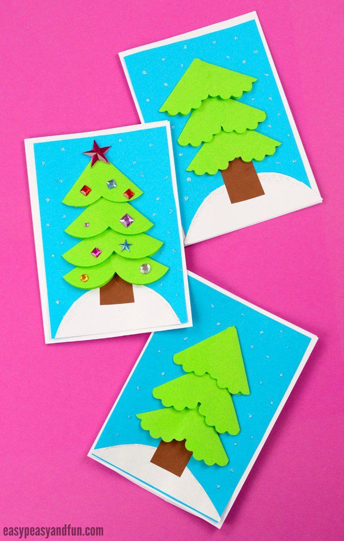 Paper Circle Homemade Christmas Card | Pinterest | Card ideas, Craft ...