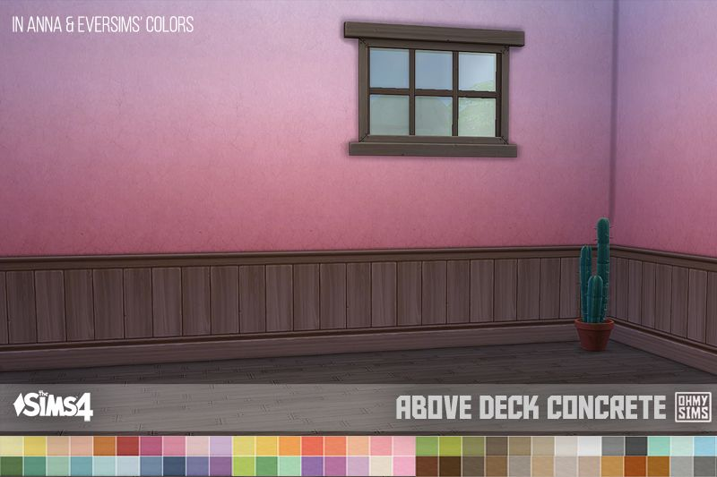 Oh My Sims 4 ? Dark Brown Paneling Above-Deck Wallpapers Works ...