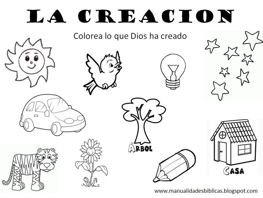 Ficha Sobre La Creación Religión La Creacion Para Niños