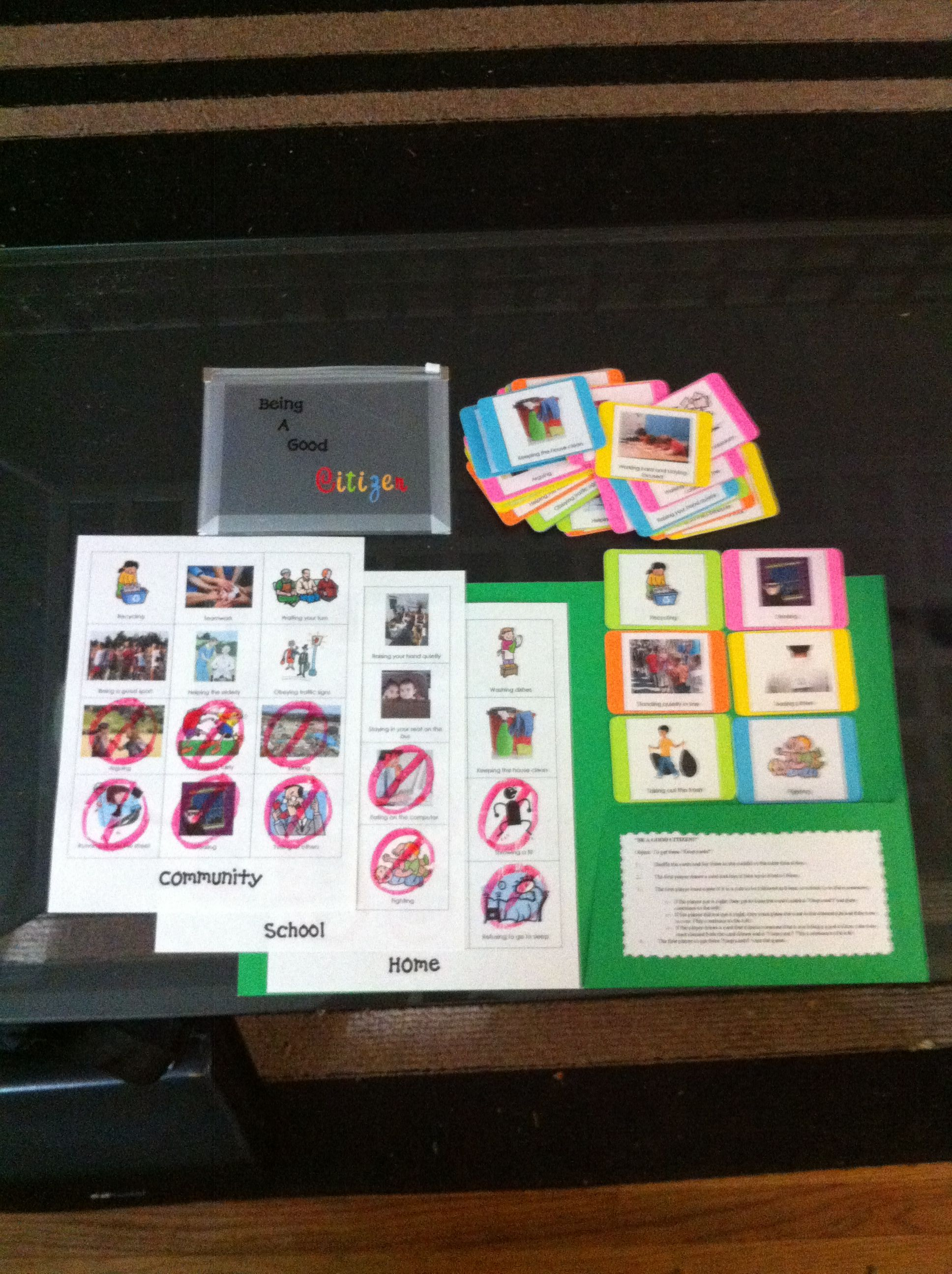 Be A Good Citizen Shuffle The Deck Of Activity Cards And Lay Them Face Down The First Player