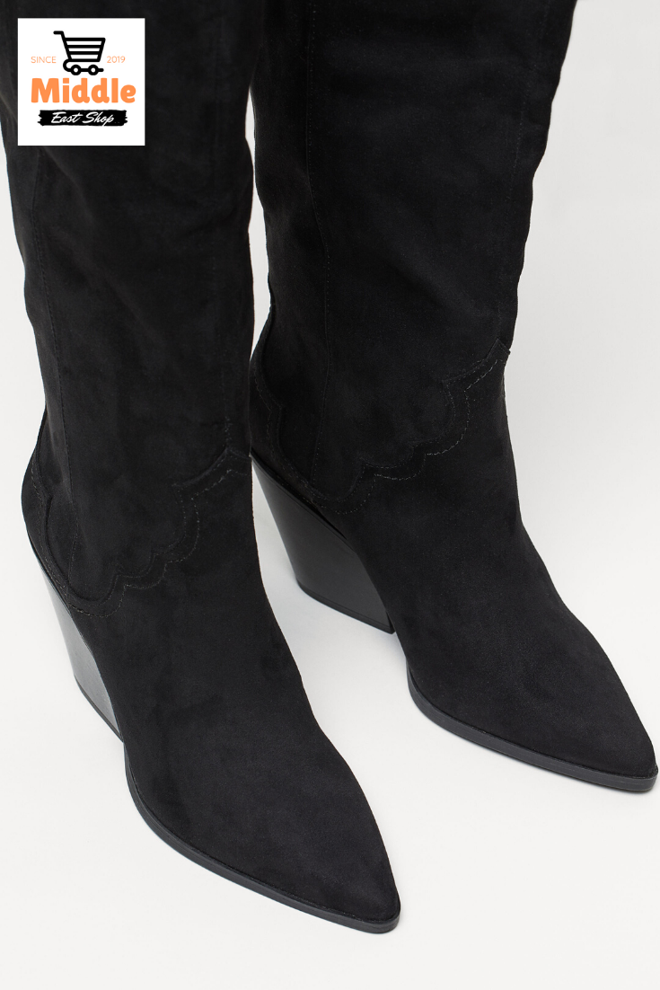 حذاء بطول الركبة Boots Shoes Ankle Boot