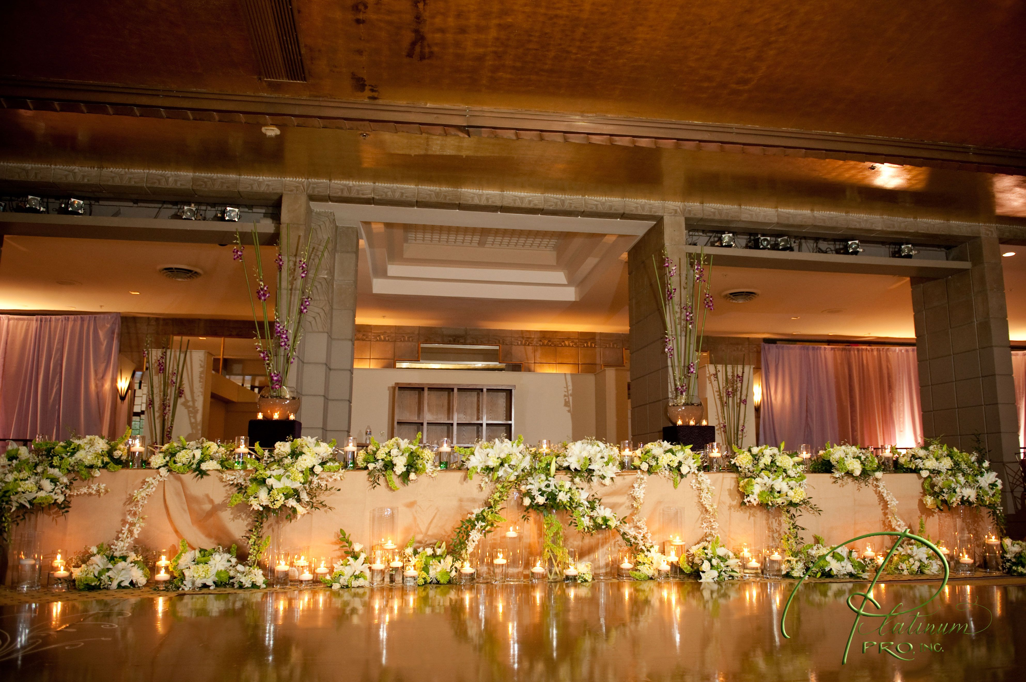 Gold oval flooring for wedding- Dance Floor