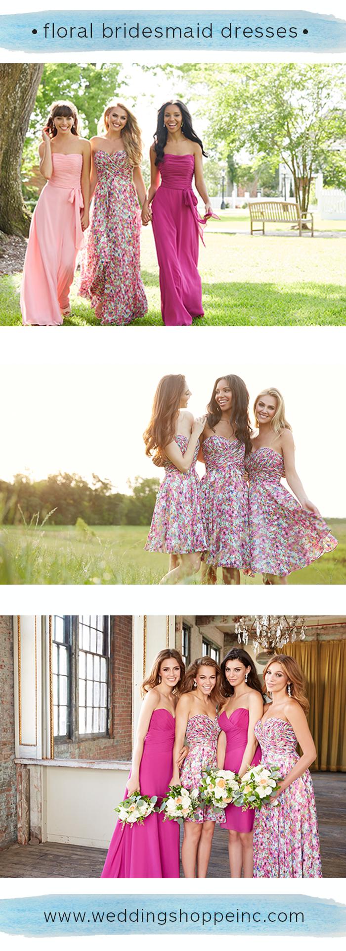 Floral print wedding dresses  Floral Print Bridesmaid Dresses InBloom u OnTrend