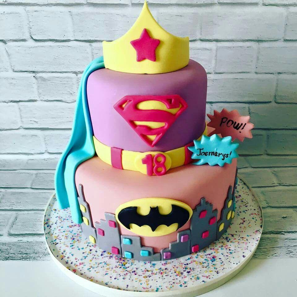 Best 25 Girl Superhero Cake Ideas On Pinterest