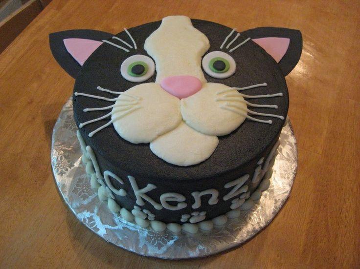 Groovy Cat Shaped Cake Recipe Birthday Cards Printable Inklcafe Filternl