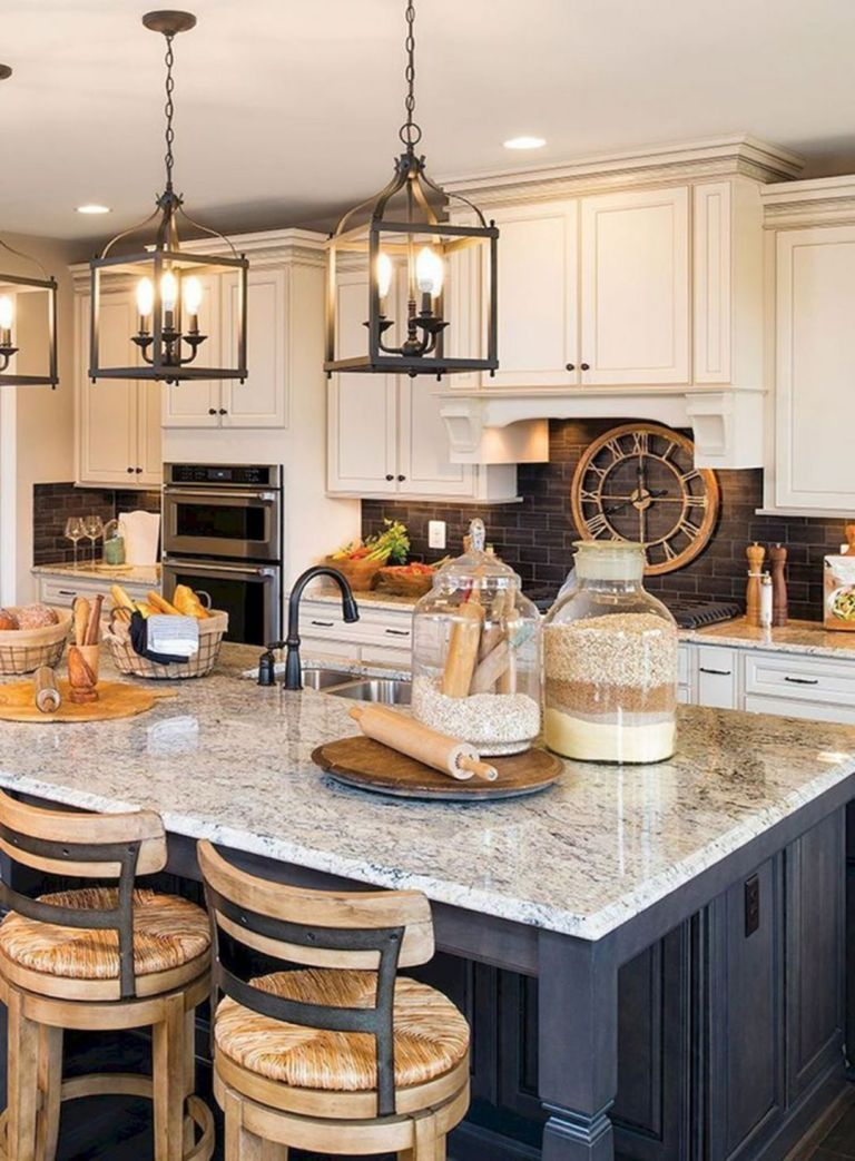 15 Chic Farmhouse Kitchen Design And Decorating Ideas for Fun Cooking #farmhousekitchencountertops