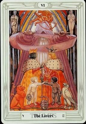 Crowley Thoth Tarot ▻ The Lovers   They in 2019   The