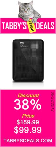 Western Digital My Passport 1 TB USB 3.0 Portable Hard Drive - WDBBEP0010BBK-NESN (Black) $99.99